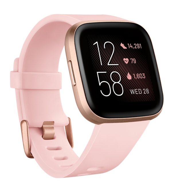 Fitbit Versa 2 Health & Fitness Smartwatch - Petal/Copper