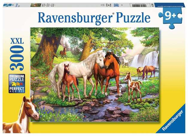 Ravensburger: 300 Piece Puzzle - Horses by the Stream