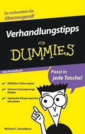 Verhandlungstipps Fur Dummies Das Pocketbuch by Michael C Donaldson image