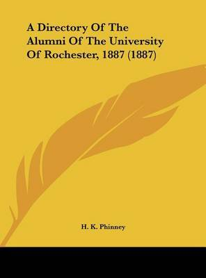 A Directory of the Alumni of the University of Rochester, 1887 (1887) image
