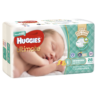 Huggies Ultimate Nappies - Size 1 Newborn (28) image