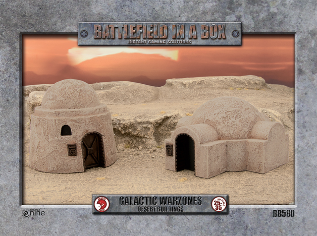 Battlefield in a Box: Galactic Warzones - Desert Buildings