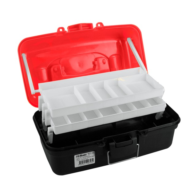 Pro Hunter Two Tray Tackle Box - Red/Orange