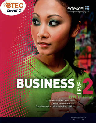 BTEC First Business Student Book by Mike Neild image