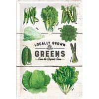 Nostalgic Art: Tin Sign - Greens