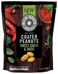Red Rock Deli: Coated Peanuts - Sweet Chilli & Basil (150g)