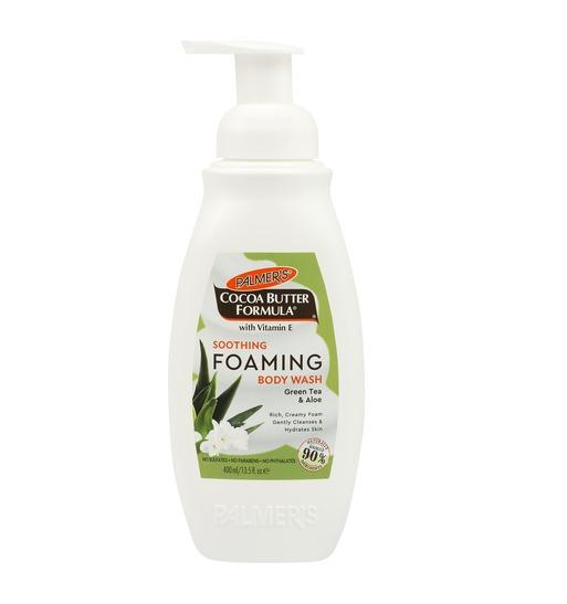Palmers Foam Body Wash - Green Tea & Aloe (400ml)