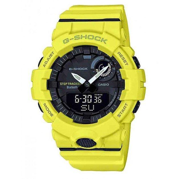 Casio G-SHOCK Yellow G-SQUAD Step Tracker Bluetooth Men's Watch GBA800-9A