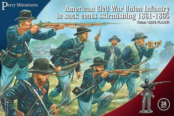 American Civil War Union Infantry in sack coats skirmishing (1861-1865)
