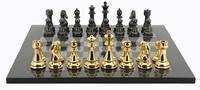 """Dal Rossi: Gold/Titanium - 20"""" Chess Board (Carbon Fibre)"""