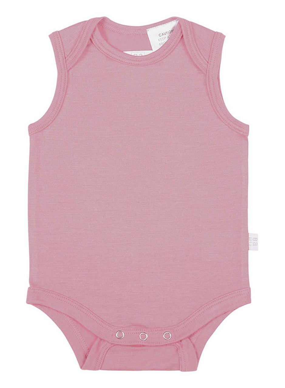 Babu: Merino Singlet Bodysuit - Pink (2 Years) image