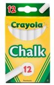 Crayola: 12 White Chalk Sticks