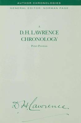 A D.H. Lawrence Chronology by P. Preston image