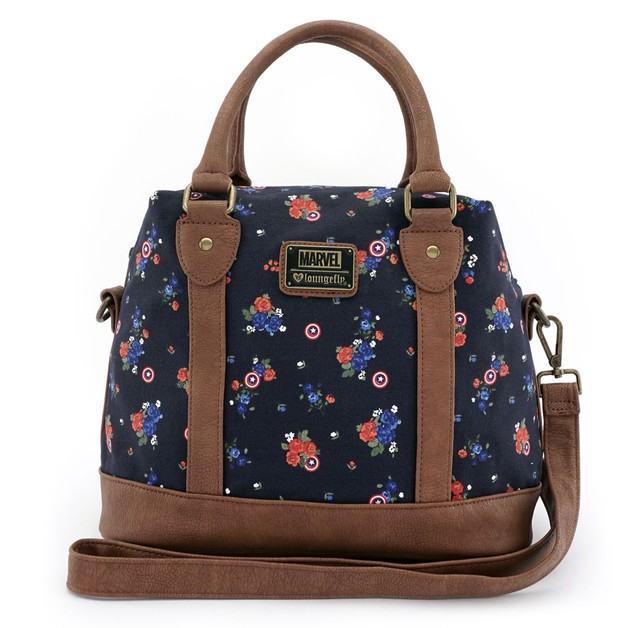 Loungefly Marvel Captain America Floral Crossbody Bag