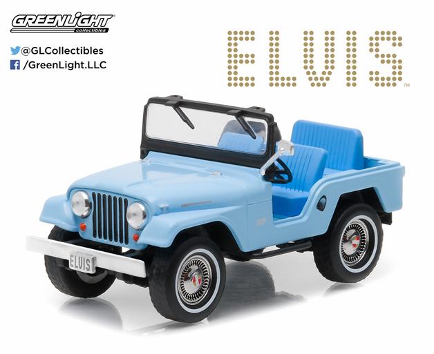 1/43: Jeep CJ-5- Elvis - Diecast Model