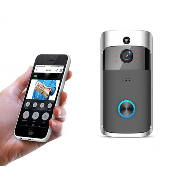 Ape Basics Smart Wi-Fi Security Video Doorbell with Battery