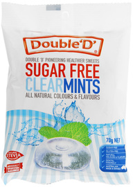 Double D Sugar Free Clear Mint Drops 70g