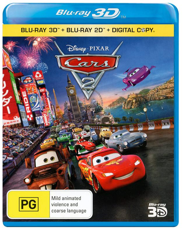 Cars 2 (3D Blu-ray/Blu-ray) on Blu-ray, 3D Blu-ray