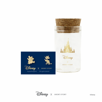 Short Story: Disney Earring Cinderella Jaq and Gus - Gold image