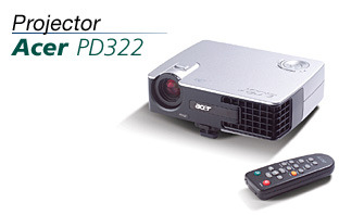 Acer PD322 DLP PROJECTOR 1500 ANSI LUMENS 1KG Ultra Lightweight Projector Ultra Portable     x