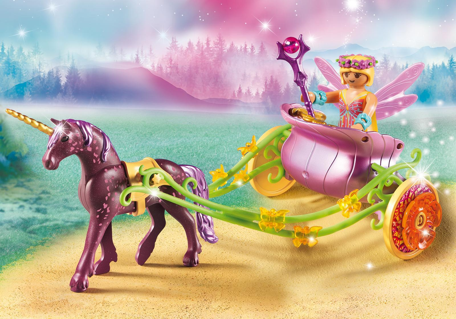 Playmobil: Fairies - Unicorn Drawn Carriage (9136) image