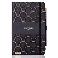 Castelli: Art Deco Notebook - Black & Gold