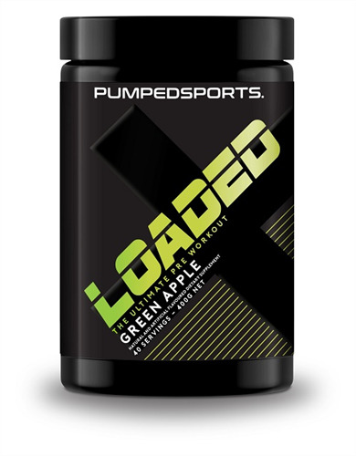Pumped Sports Loaded Pre-Workout - Green Apple image
