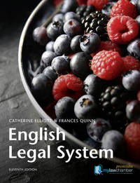 English Legal System by Catherine Elliott image