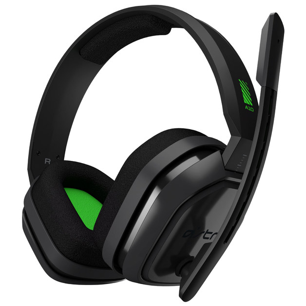 Astro A10 Wired Headset (Grey/Green) for PC, Xbox One