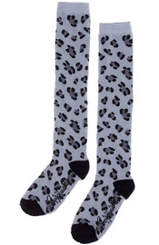 Sourpuss: Leopard Knee Socks (Gray)