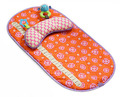 Infantino Baby Mat and Bolster Set - Vintage Orange