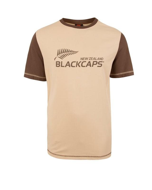 NZ Blackcaps Mens Retro Supporters Tee (2XL) image