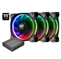 140mm Thermaltake: Riing Plus Radiator Fan - RGB TT Premium Edition (3 Pack)