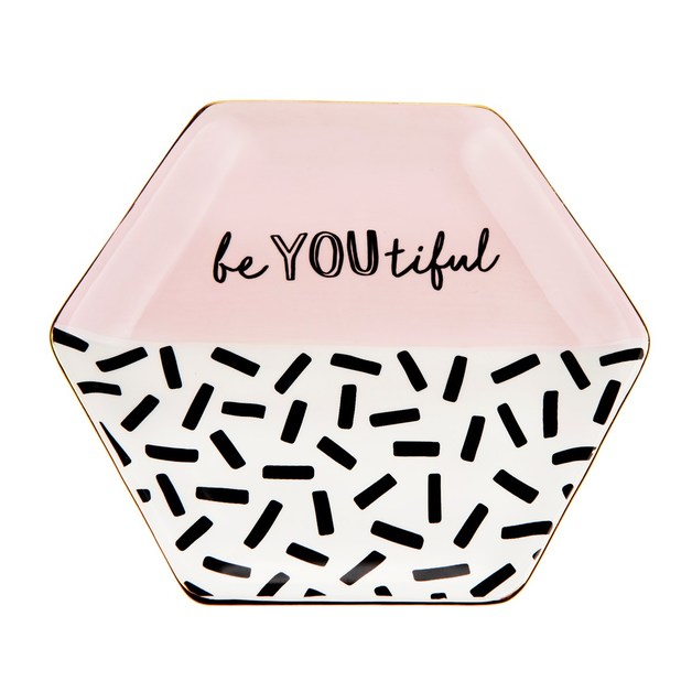 Memphis Modern Be You Beautiful Trinket Dish