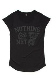 Silver Ferns Net Black Kids T-Shirt (Size 6)
