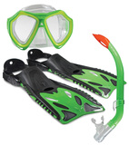 Land And Sea: Nipper Mask/Snorkel/Fin Set - Junior Size 8-12 (Green)