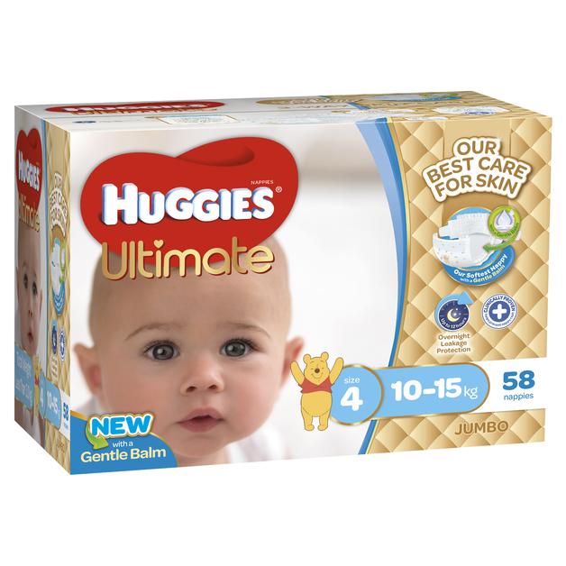 Huggies Ultimate Nappies: Jumbo Pack - Toddler Boy 10-15kg (58)