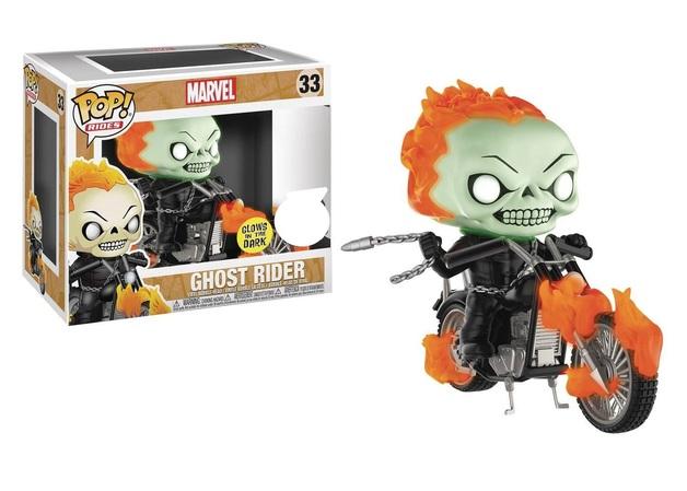 Marvel - Ghost Rider (Glow) Pop! Rides Set