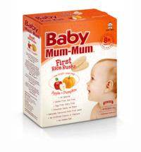Baby Mum Mum: First Rice Rusk - Apple & Pumpkin (36g) image