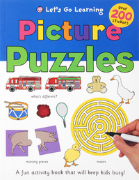 Puzzles and Games Sticker Book by Roger Priddy
