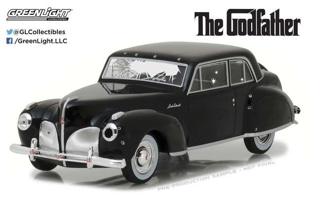 1/43: Lincoln Continental - Bullet Damaged - Diecast Model