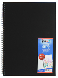 Jasart A4 60 Page Spiral Bound Visual Diary