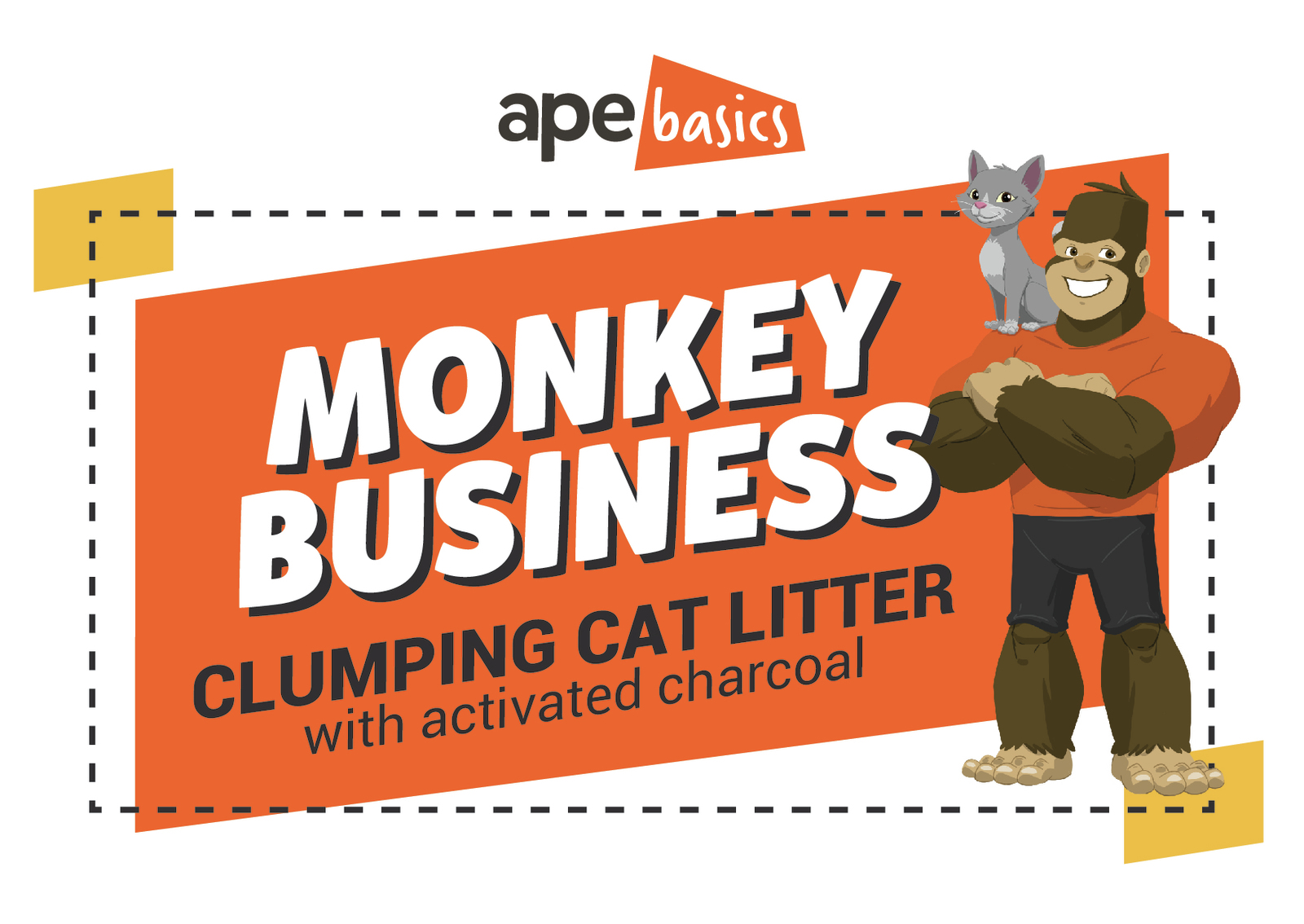 Monkey Business Cat Litter - Active Charcoal Clumping (20kg) image