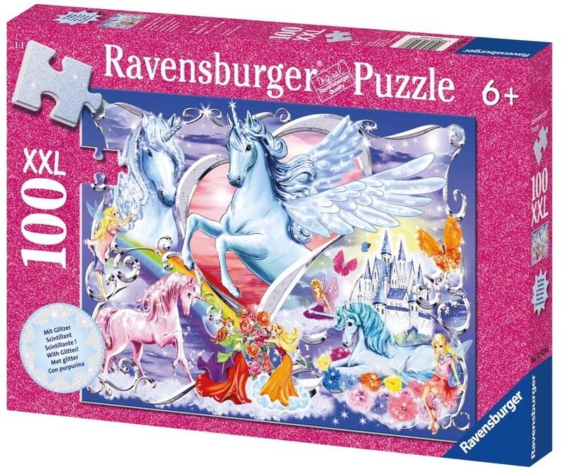 Ravensburger 100 Piece Jigsaw Puzzle - Amazing Unicorns Glitter image