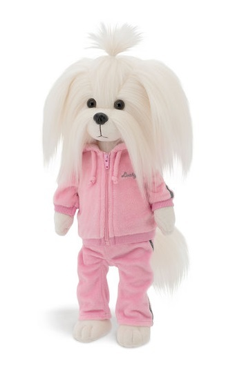"""Lucky Doggy: Lucky Mimi (Fitness Pink) - 17"""" Plush Doll"""