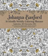 Johanna Basford 2017 2018 16 Month Coloring Weekly Planner Calendar By