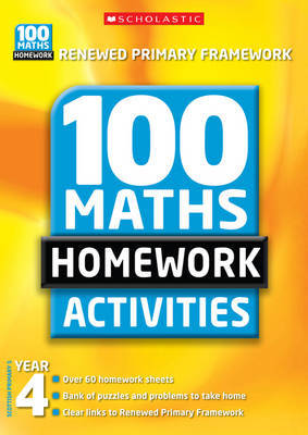 100 Maths Homework Activities for Year 4 by Ann Montague-Smith image