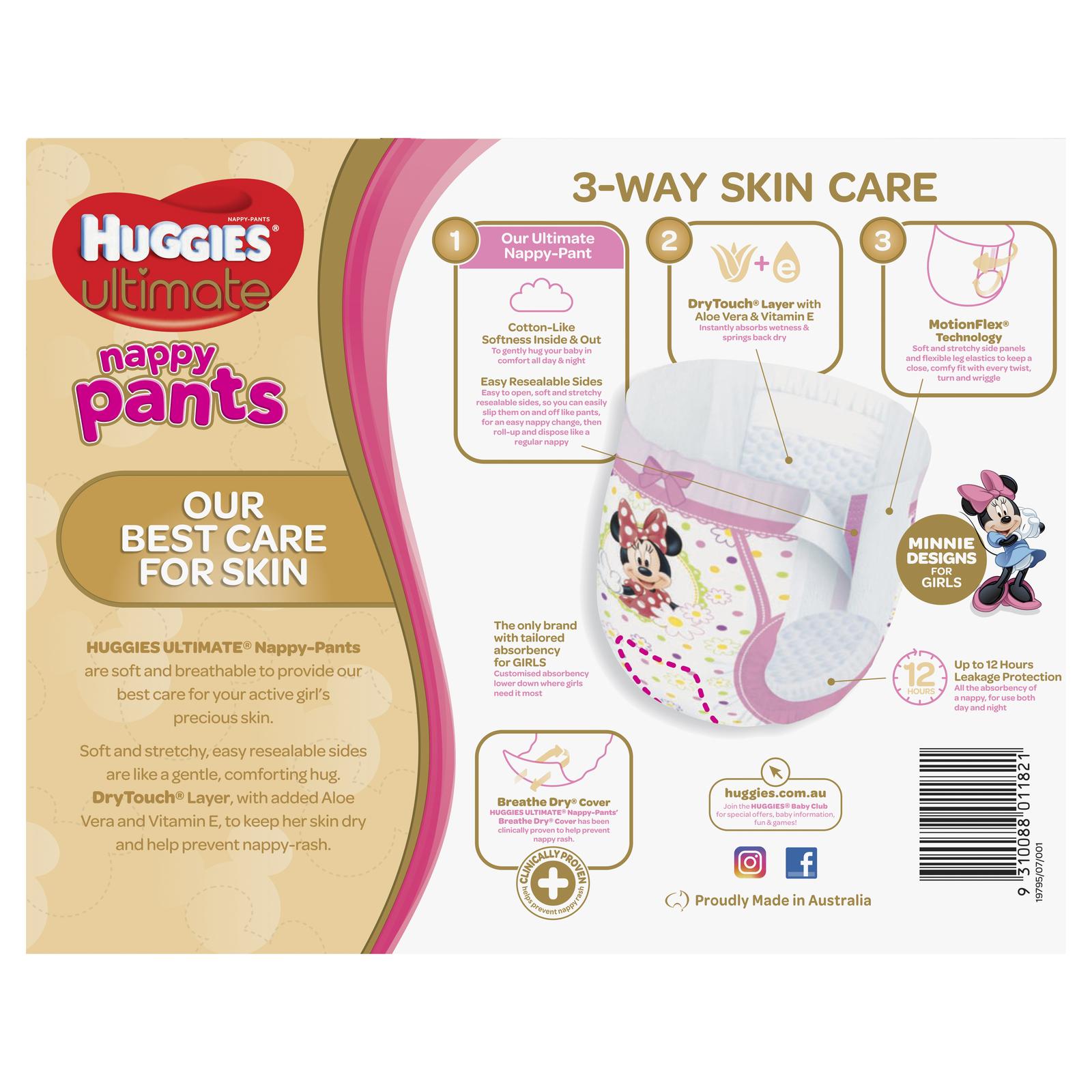Huggies Ultimate Nappy Pants Bulk Shipper - Junior Girl 16kgs + (104) image