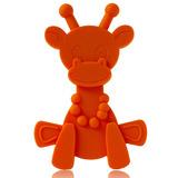 Little Bam Bam Silcone Teether - Orange