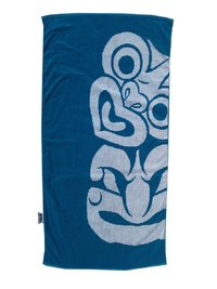 Towelling It XL Beach Towel - Blue Tiki